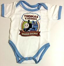 NEW Baby THOMAS TRAIN TANK ENGINE Onesies One Piece Jumper Sizes 0-18 Months Old