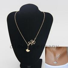 Silver Bird Tree Branch Necklace Clavicle Cute Chain Leaves Clavicle