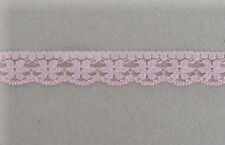 CRAFT-SEWING-LACE 13mm Pink Flower Design Lace(metre variations available)
