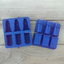 Dr Doctor Who Tardis and Dalek Silicone Ice Cube Tray Candy Chocolate Jelly Mold