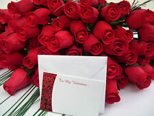 FREE VALENTINES GIFT CARD RED WOODEN ROSES GRASSES WHOLESALE ARTIFICIAL FLOWERS