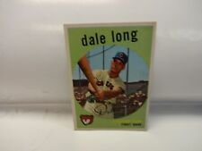 1959 Topps Dale Long Card # 414 Chicago Cubs
