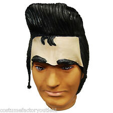 Mens Fancy Dress Costume SW Accessories Wigs Elvis Presley Rubber Wig Forehead