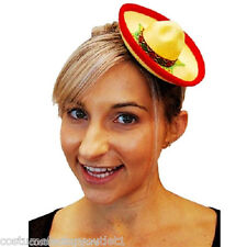 Fancy Dress Costume Accessories SW Mini Mexican Sombrero Hat - Yellow