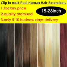 Real Cheap Price Clip In 100% Real Remy Human Hair Extension 15-28inch Wholesale