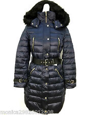 ZARA NAVY BLUE DUCK DOWN FEATHER LONG QUILTED PUFFA COAT XS_S_M_L  RRP £105