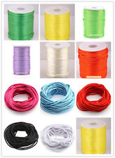 10m Nylon Chinese Knot Beading Jewelry Cords Thread 2mm Dia  Colorful