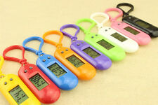 New Keychain oval table electronic watches multicolor LCD watch pendant G3