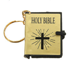 Mini Bible Keychain Can read English HOLY BIBLE Religious Christian Jesus NEW CA