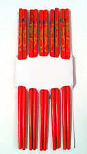 5 Pairs Bamboo Chopsticks Hair Sticks in Dragon, pheonix, geisha girl etc design