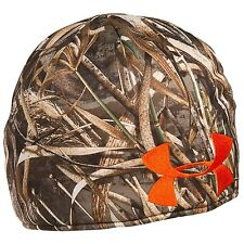 Under Armour UA Reversible Realtree Camo / Orange Hunting Beanie - Choose Size!