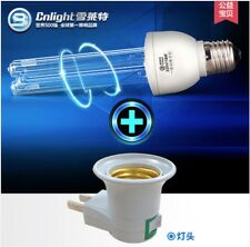 UV lamp Ultraviolet Lamp UVC light bulb 220v 15w or 25w  E27 with lampbase a395