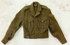 "Genuine British Army 1949 Ike Jacket- Size 4ft 10"" Ch 28-30""- A few moth holes"