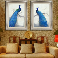 DIY 5D Cross Stitch Peacocks Embroidery Diamond Painting Paste Needlework Kits