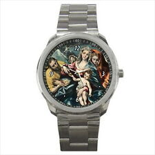 NEW Wrist Watch Stainless Holy Mary Family Jesus Christ Catholic