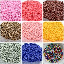 1000pcs Czech 15g 2mm Round Opaque Lot Colorful Glass Seed Beads Jewelry Making