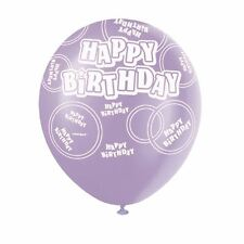 Glitz Happy Birthday Balloons Pink 6 Pack Different Age Print Party Decoration