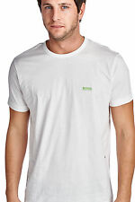 BOSS GREEN BY HUGO BOSS MEN'S GRAPHIC SHORT SLEEVE CREW NECK LOGO T-SHIRT WHITE