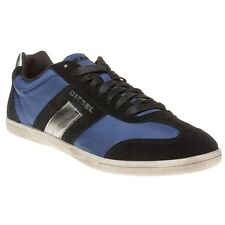 New Mens Diesel Blue Black Vintagy Lounge Nylon Trainers Lace Up