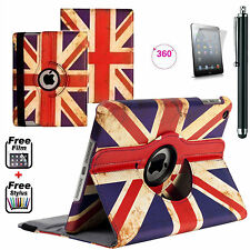 Union Jack PU Leather 360°Smart Stand Case Cover For APPLE iPad Mini 2,3,Mini 4