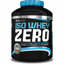 Iso Whey ZERO Pure Isolate Protein WITHOUT LACTOSE 2270g ZERO Carb Biotech BCAA