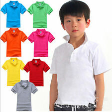 Boys Girls Short Sleeve Polo Shirt candy colored T-Shirt size: 4-6years YF226