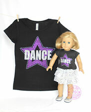 American Girl Doll Clothes -SPARKLE! Matching Girl and Doll Dance Star Shirts
