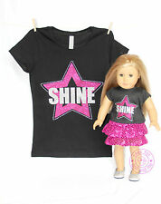 American Girl Doll Clothes -SPARKLE! Matching Girl and Doll Shine Star Shirts