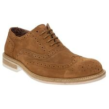 New Mens SOLE Tan Amos Suede Shoes Brogue Lace Up