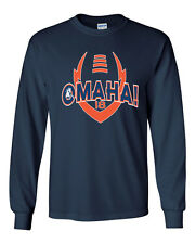 Manning Peyton OMAHA Denver Broncos Football LONG SLEEVE Men's Tee Shirt 1335