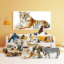 Creative 3D Cute Animal Tiger Zebra Shape Throw Pillow Plush Soft Cushion Gift