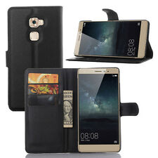 New Premium Litchi Leather Flip Case Cover Wallet Pouch For Various Huawei Model