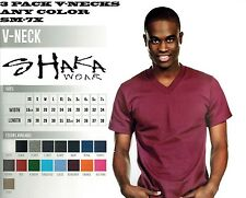 3 PACK SHAKA WEAR MENS V-NECK T-SHIRT ANY COLOR FREE SHIPPING SM-7X