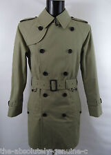 AQUASCUTUM Light Olive WALTON Rain Trench Coat sz 40 RRP £795 Made in UK
