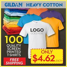 100 Custom Printed T-Shirts Screen Printing Cheapest & lowest price on ebay!