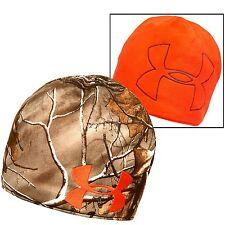 Under Armour UA Reversible Realtree AP Xtra Camo / Orange Hunting Beanie - NEW!