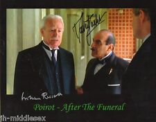 David Suchet and William Russell Autograph - Poirot - Signed 10x8 Photo - AFTAL