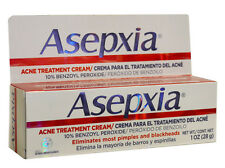 ASEPXIA ACNE TREATMENT CREAM 1 OZ NO PIMPLES AND BLACKHEADS MADE IN CANADA