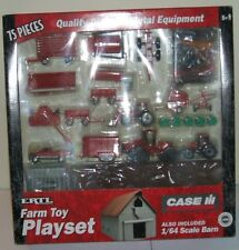 Ertl Farm Country Toy CaseIH Playset Tractors, Implements, Pickup, Barn MIP 1/64
