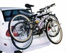 REAR MOUNT 2 BICYCLE CARRIER CAR RACK BIKE CYCLE UNIVERSAL FITS MOST CARS NEW