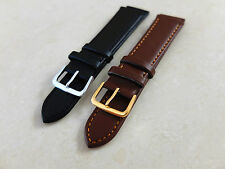 High QualityMens Ladies Soft Leather Watch Band Strap 16mm 18mm 20mm 22mm