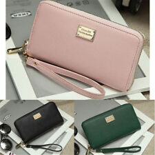 U.S.A New Women Lady Leather Clutch Coin Phone Bag Long Purse Wallet Card Holder