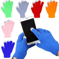 1Pair New Full finger Winter Unisex Touch Screen Glove Warm Smartphone Knit Gift