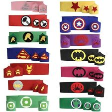 (1 Belt + 2 Cuffs) Superhero Belt AND Wrist Bands SET, Superhero Cuffs Set