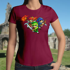 The Legend of Zelda Tri Force Heroes Link Triforce Tee Womens Juniors T-Shirt