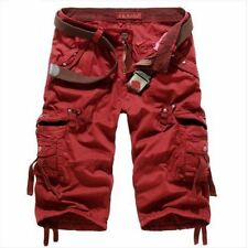Mens summer outdoor cargo shorts overalls loose casual pants trousers 5 color