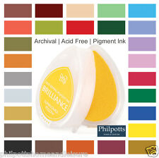 BRILLIANCE DEW DROP INK PAD, Archival Pigment Acid Free, Fast Drying, Stamping
