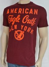 American Eagle Outfitters AEO New York Applique Mens Burgundy T-Shirt NWT