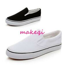 Women Flat Slip On Painted Canvas Sneaker DIY Hand Shoes Sports UK Size