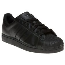 New Mens adidas Black Superstar II Leather Trainers Retro Lace Up